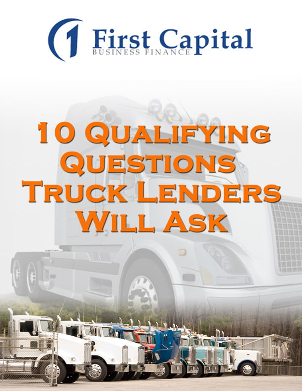 truck lenders financing - first capital business finance